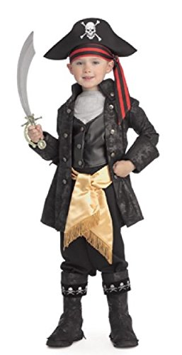 Pirates of the Seven Seas Child's Captain Black Costume, Medium