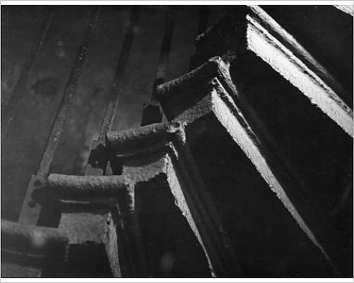 Photographic Print Of Spooky Spiral Staircase