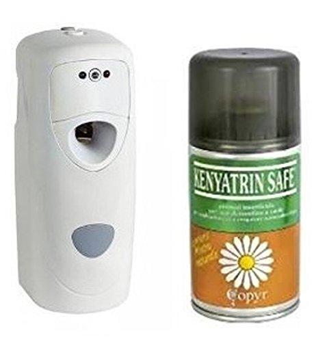 Aerosol insecticida Keniatrin Safe de 250 ml con dispensador automático Coprimatic Evolution, para moscas y mosquitos: Amazon.es: Hogar