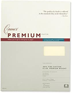 product image for Crane & Co. Cranes Premium Weight Ecruwhite 8 1/2 X 11 Sheets (PS8116)