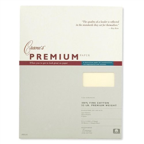 Crane & Co. Cranes Premium Weight Ecruwhite 8 1/2 X 11 Sheets (PS8116) (William Arthur Wedding Invitations)
