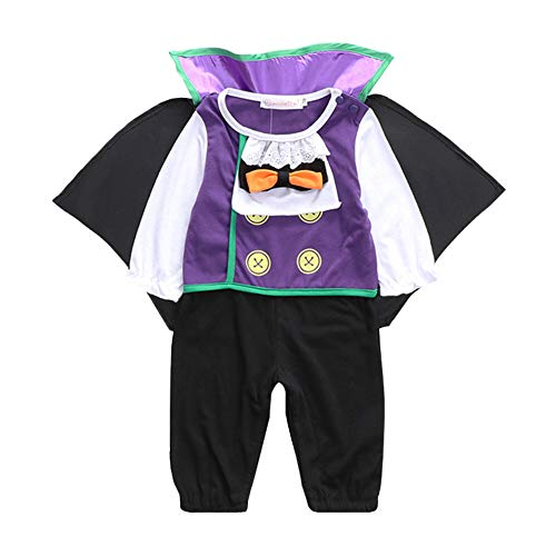 JanLEESi Baby Boy's Halloween Vampire Outfits Toddler Costume Layette Sets,6-9M