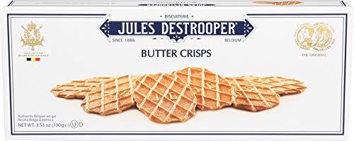 Jules Destrooper Butter Crisps, Belgian Butter Wafer Cookies, 3.5-Ounce Box (Pack of 12)