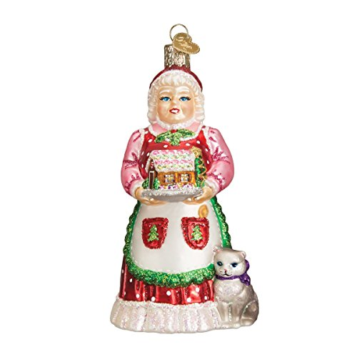 Old World Christmas Mrs. Claus Glass Blown (Christmas Old World Santa)