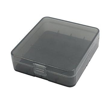 eDealMax Sostenedor de la caja 81mmx73mmx23mm plástico Duro de la batería de almacenaje Organizador Negro