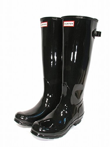 Hunter Women's Adjustable Tall Gloss Boots - Black by Hunter