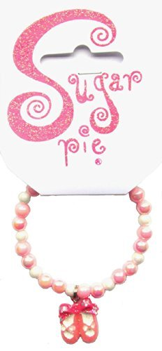 Sugar Pie S11B034 Bracelet Small Beads Ballet Shoes Charm, Assorted