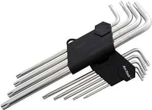 Am-tech - Juego de llaves Torx extra largas (9 piezas)