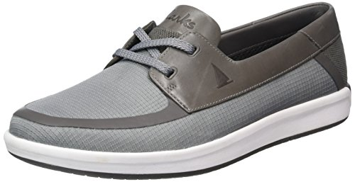 Clarks Nautic Harbour Scarpe Stringate Basse Oxford Uomo Grigio light Grey