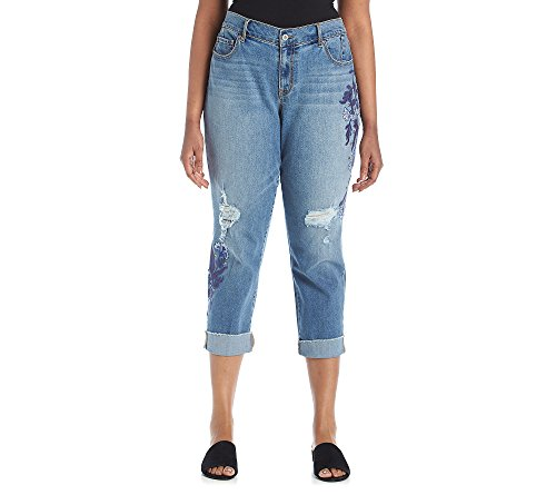 Jessica Simpson Plus Size Mika Indigo Cross Stitch Jeans 24W