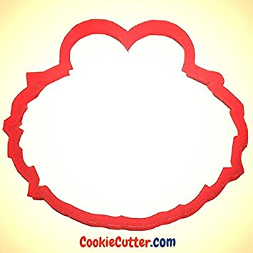 De cara de Elmo molde para galletas CookieCutterCom 8,89 cm Pc0210: Amazon.es: Hogar