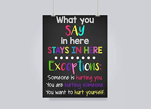 Mini Wood School Counselor/Counselor Office/Counselor Door Sign/Guidance Counselor/What You Say Here/Stays Here Sign/Counselor Poster