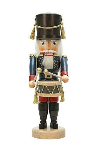 German Christmas Nutcracker Drummer Blue - 40,5cm / 16 inch - Christian Ulbricht by Authentic German Erzgebirge Handcraft