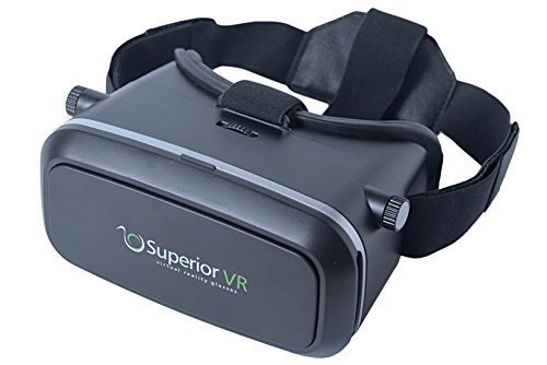 Superior VR Glasses / Virtual Reality Glasses / VR Device with Bluetooth Remote Control for 3D Videos Movies Games for iPhone Samsung Google etc. - Perfect Virtual Reality Goggles VR - Gifts Virtual Send To