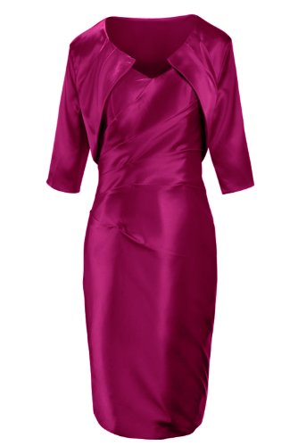 Sunvary 2014 Sheath Short Mother of Bride Dress Party Dress with Half Sleeves Jacket