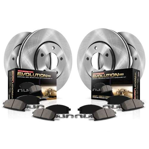 Power Stop KOE7300 Front and Rear Stock Replacement Brake Kit ()