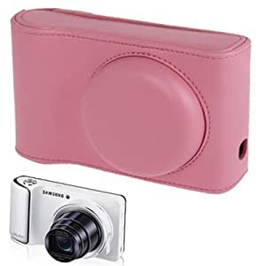 Leather Case Bolsa Funda para cámara Samsung-EK GC100 (Pink)