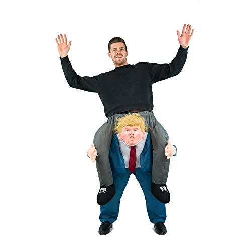 Bodysocks Adult Piggyback Donald Trump President Carry On Fancy Dress Costume]()