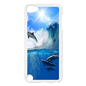Ipod Touch 5 The dolphins Phone Back Case Custom Art Print Design Hard Shell Protection TY032257
