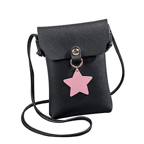 af4d17806 Bag Negro Mano Portatil Tote Quicklyly Cubierta Mensajero Mujer Callejero  Bolso Tirantes Compras Fuera Bolsa Shopper ...