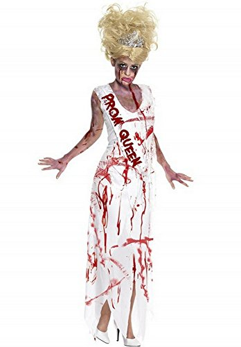 Wonder Lingerie Plus Women's Zombie Prom Queen Halloween Party Costume