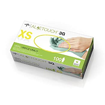 Medline Aloetouch® 3G Exam Gloves - Latex Free - 1 Box of 100 Gloves, Extra_Small_MDS195173