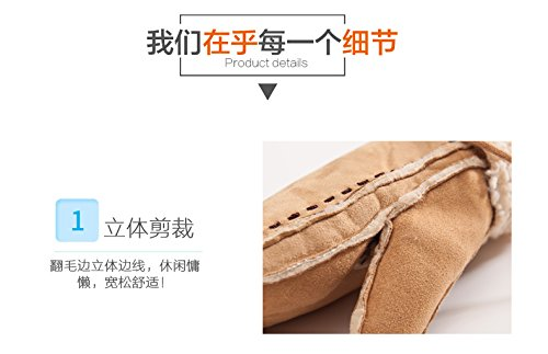 Generic women girls autumn winter _days_Korean_style_of women girls leather lovely _thick_plus_velvet_warm_lambs_wool_coin-to_educate_ students glove gloves