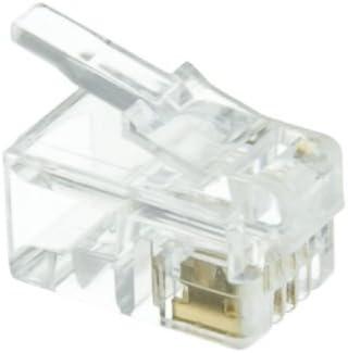 rj22 connector wiring amazon com phone data rj22 crimp connectors for flat cable  4p4c  amazon com phone data rj22 crimp