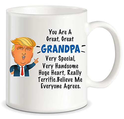 Fathers Day Gifts for Grandpa Donald Trump Terrific Grandpa World's Best Grandfather Ever Funny Ceramic Novelty Gag Gift Ideas for Christmas Birthday Coffee Mug Tea Cup (Best Golf Gift Ever)