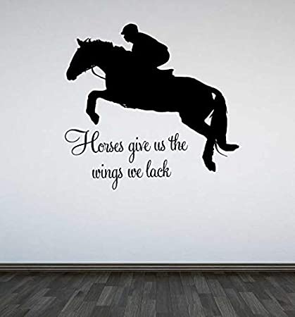 Amazon.com: Yetta Quiller Jumping Horse Wall Decal Horses ...