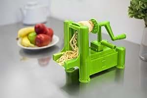Big Boss Slice-A-Roo Ultimate Tri-Blade Vegetable and Fruit Peeler Spiralizer, Green