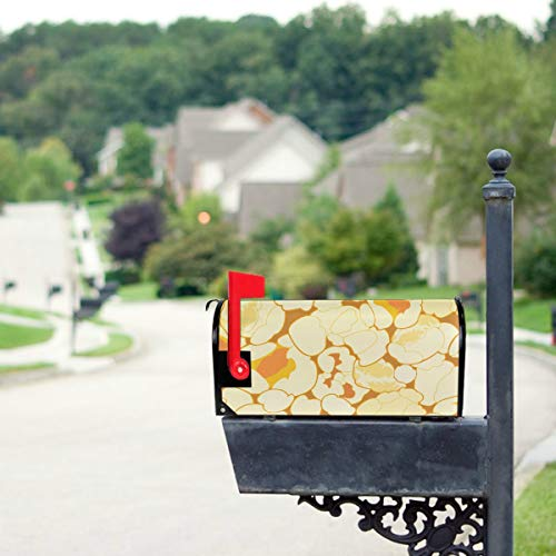 - JGYJF Collection of Popcorn Hand Drawn Mailbox Covers Standard Size Original Magnetic Mail Cover Letter Post Box 21