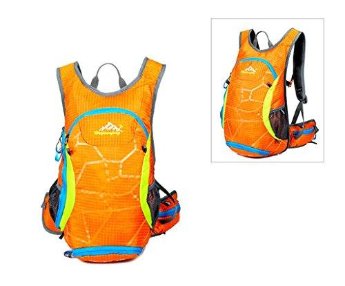TaoMi- Mochila al aire libre - multi-propósito de viaje de bicicletas bolsa de viaje bolsa de hombres y mujeres al aire libre mochila impermeable bolso de escalada ( Color : Verde , Tamaño : 15L ) Naranja