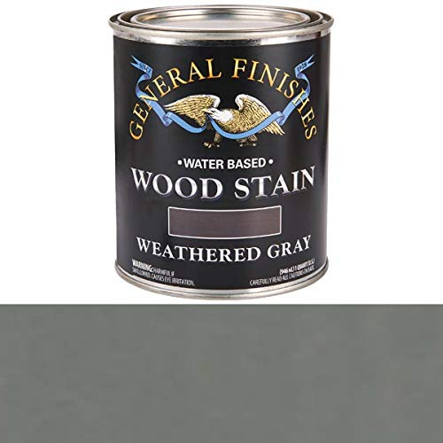(General Finishes QTWG Water Based Wood Stain, 1 Quart, Weathered)