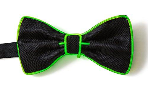 Up Bow Light Neon Nightlife Tie Green Men's qO7naxwP