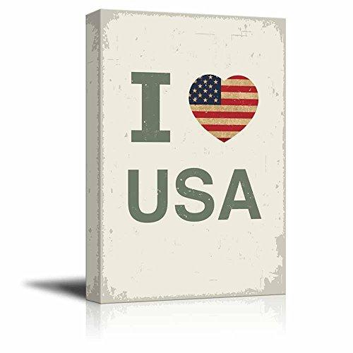 Vintage Style I Love USA