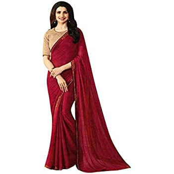 3cdc427f58ccff Bollywood Designer Saree Sari For Women Girls Party Wear Formal Black  Friday Special Wedding Blouse Ceremony 603 (Wine)