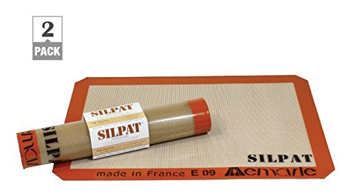 Silpat AE365240-02 Premium Non-Stick Silicone Baking Mat 9-7/16 inch x 14-3/8 (2 Pack)