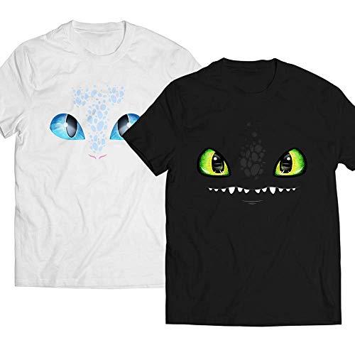 Night-Light Eyes Costume Toothless Fury Dragon Matching-Couple-Twins-Siblings Customized Handmade Hoodie/Sweater/Long Sleeve/Tank Top/Premium T-shirt ()