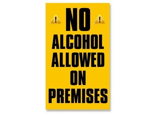MAGNET LARGE No Alcohol Allowed On Premises Business Store Window Magnetic - Store Nyc Flag