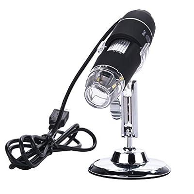 Gracelove 8-LED 2MP USB Digital Microscope Endoscope 2.0 Mega Pixels Magnifier 100X 200X