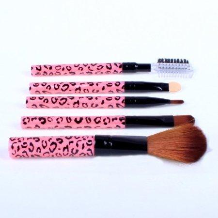 Kit brosse cosmétiques 5 pcs pinceau de maquillage Travel Set Princessa - Rose