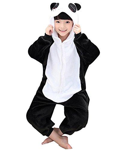 [Duraplast Girl's Sleep Bag Onesie Pajamas Animal Costume Hoodie Fleece Panda M] (Panda Costume For Sale)