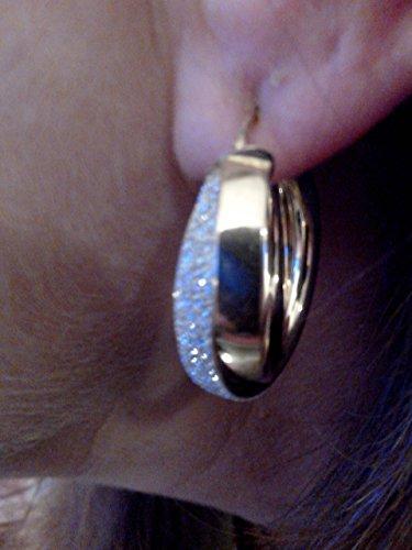 femme boucles d'oreilles 2ors 18k 750/1000