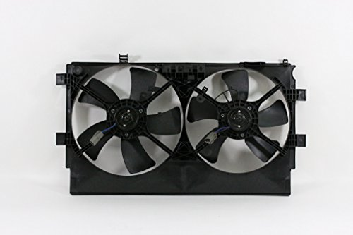 Dual Radiator and Condenser Fan Assembly - Pacific Best Inc For/Fit MI3115139 08-17 Mitsubishi Lancer 09-17 Sportback w/o Turbo