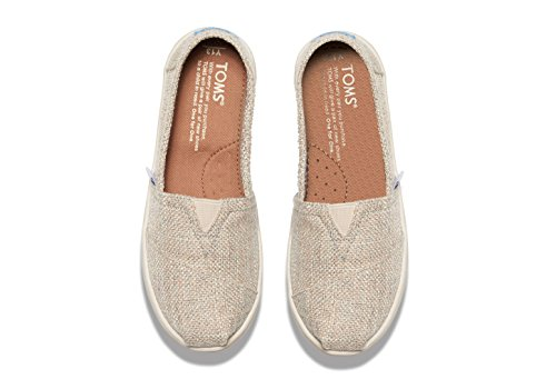 Pictures of TOMS Natural Linen Glitter Youth Classic 10007632 ( 10007632_2.5D 3