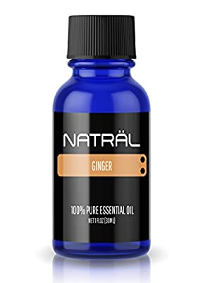 NATRÄL Ginger, 100% Pure and Natural Essential Oil, Large 1 Ounce Bottle