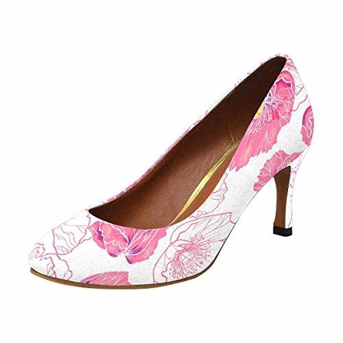 Fiore Di Papavero Rosa Di Abiti Di Alta Moda Classico Di Moda Di Interesse Della Donna