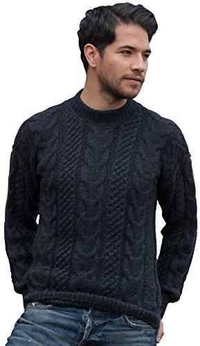 Gamboa Handkit Warm Alpaca Sweater for Men Gray (Large)