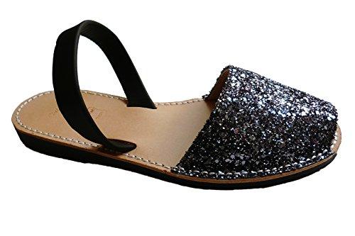 albarcas plata negra abarcas menorquínas varios Glitter avarcas Auténticas sandalias colores CXqOAxBw